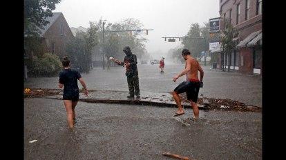 Na de orkaan Florence in de Verenigde Staten
