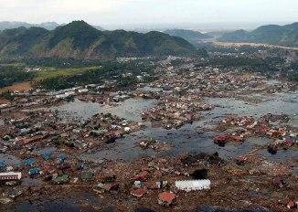 Schade van de recente Tsunami in Indonesië